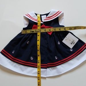 Starting Out Dresses - NWT baby girl sailor dress navy white red 6mo